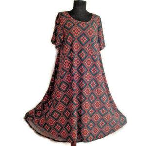 Lularoe XL Carly Dress hi-low hem pocket